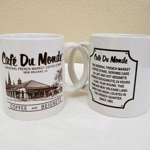 Cafe Du Monde Coffee and Beignets Lot of 2 Mugs